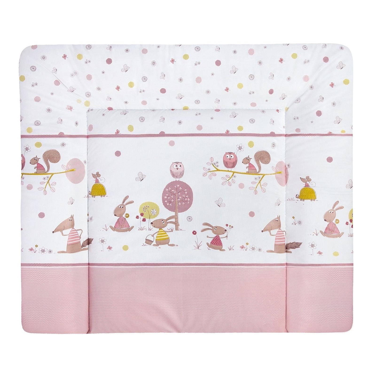 Julius Zöllner Wickelauflage Softy 65x75 cm Folie Happy Animals rosa