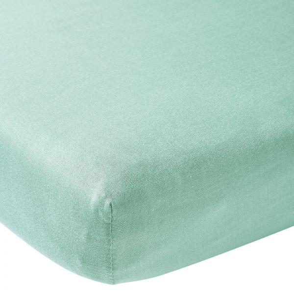 150 cm New Mint Meyco Jersey Spannbetttücher Spannbettlaken 2er Pack 70x140